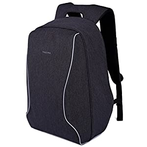 Anti Theft Travel Backpack Lightweight Laptop Bag Scan Smart Checkpoint Friendly Black 17 Inch