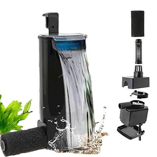 Turtle Tankfilter, Low-Wasserspiegel seichtes Wasser Kleine Fisch-Behälter, Wasserfall Typ Kleine Mute Built-in-Wasseraufbereitungssystem, Innere Aquarium Patronenfilter,110v