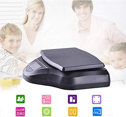 XXLLQ Neu abnehmbar Profi Digitalwaage für max. 30 kg, Digitale Küchenwaage mit großer Wiegefläche und Tara, praktische Haushaltswaage