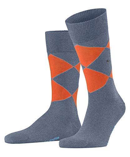 Burlington Herren Organic Argyle Socken, blau (Light Jeans 6662), 40-46