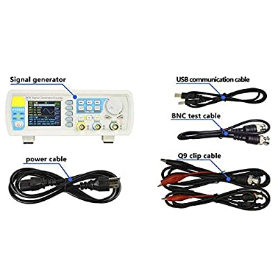 Pulse Signal Source, AC100-240V FY6800 Double Channel DDS Function Arbitrary Waveform Signal Generator 40MHz Dual-Channel Pulse 1Hz-100MHz Frequency Meter