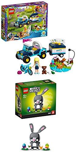Otros desconocidos Collect-it.de Lego Friends 41364 Stephanies Cabrio con remolque + Lego BrickHeadz Conejo de Pascua 40271
