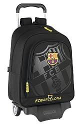 sac a dos de couleur noire fc barcelona