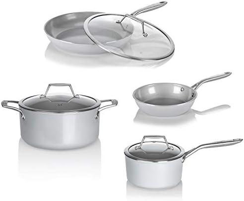 "TECHEF - CeraTerra 12"" Ceramic Nonstick Frying Pan (PTFE and PFOA Free Ceramic Exterior & Interior), Made in Korea, (12-in)"