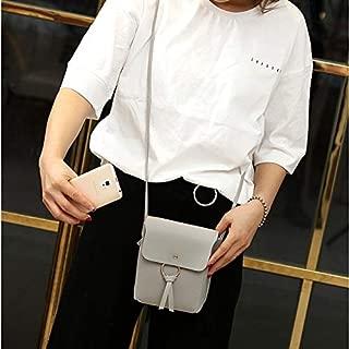 Fashion Single-Shoulder Bags Leisure Fashion PU Leather Slant Shoulder Bag Handbag(Black) (Color : Grey)