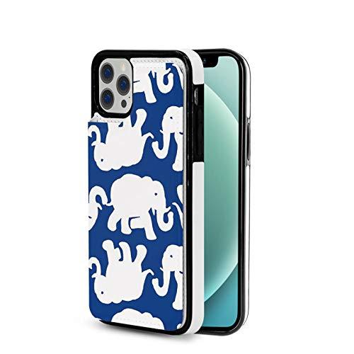 KAIXIN Funda para iPhone 12, diseño de elefante, color azul marino