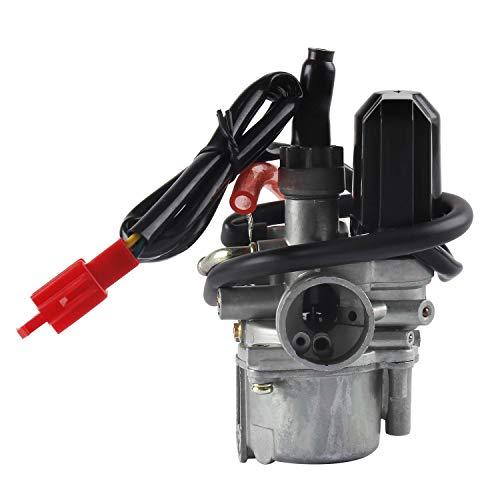 Wilktop 17mm Carburateur, Scooter Carburateur Motorfiets Carburateur Met E-choke 2-Pins Connector