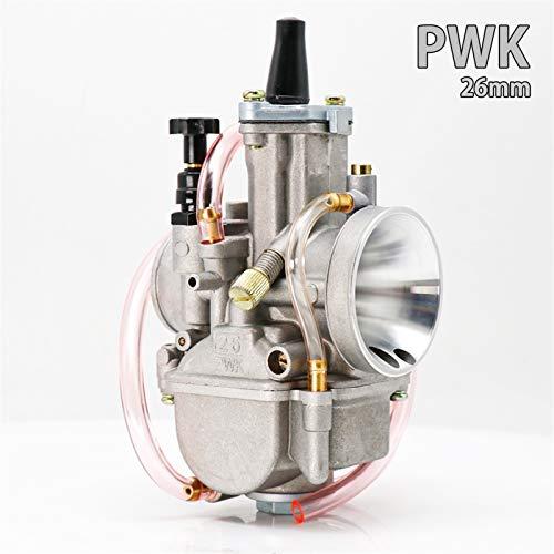 Carburador nuevo Universal for PWK 21 24 26 28 30 32 34 2T 4T for Keihin Koso PWK carburador con Power Jet for Moto 75cc-250cc (Color : 26mm)