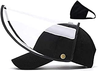 CYB Detachable Black Full Face Hat Adjustable Baseball Cap for Men and Women