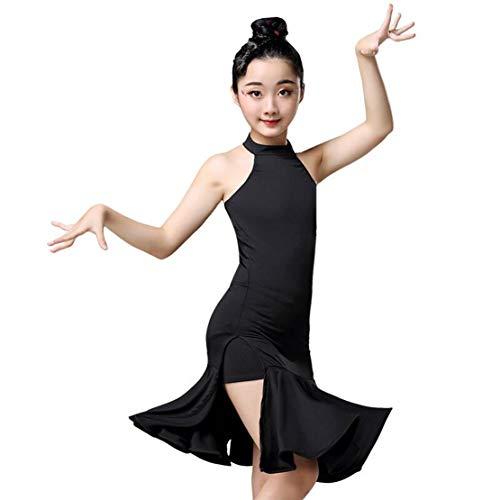 Latin Kleid Kinder Mädchen Tanzkleid Latein Tanzkostüm Salsa Tango Rumba Performance Turnierkleid Dancewear Tanzkleidung/140