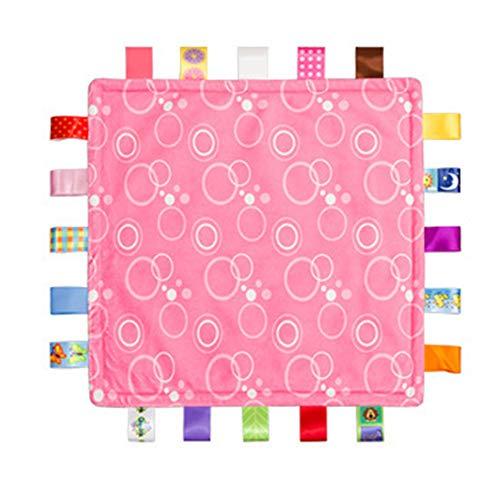Guoyihua bébé Sécurité Tag Couverture, bébé Super Doux carré Couverture Label Serviette apaisante, Tag Doudou Sécurité couvertures