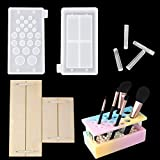 iSuperb Moldes Resina,Makeup Brush Storage Molds, Epoxi Moldes Resina,Para Guardar Brochas de Maquillaje (1 Set)
