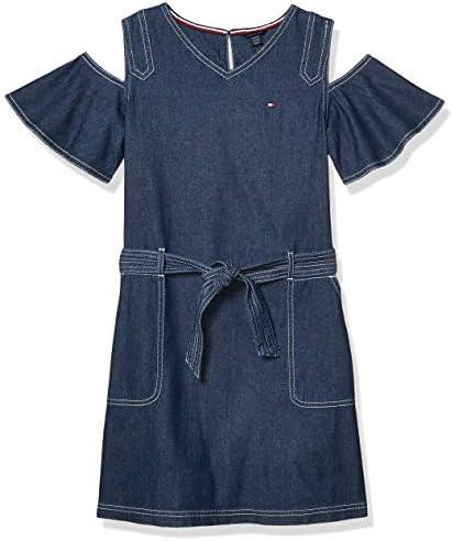 Tommy Hilfiger Kids Girls Cold Shoulder Dress Tompkins wash 4T product image