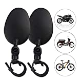 XCYY Motorrad Seitenspiegel 1 Paar 360 ° Rotation Fahrrad Rückansicht Spiegel Fahrrad Radfahren...