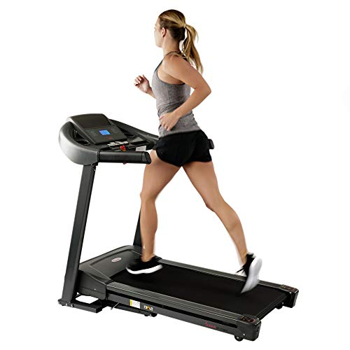 Sunny Health & Fitness T7643 Heavy Duty Walking Treadmill with 350 LB Max Weight, Tablet Holder, Shock Absorber, Wide Belt and Folding by Sunny Distributor Inc.