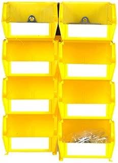 LocBin 028-Y 8 Ct Bin Kits, Small/Medium, Yellow by LocBin