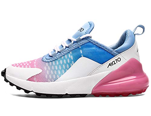 GNEDIAE Damen AIR 270 Low-top Hallen & Fitnessschuhe Pink Blau 36 EU