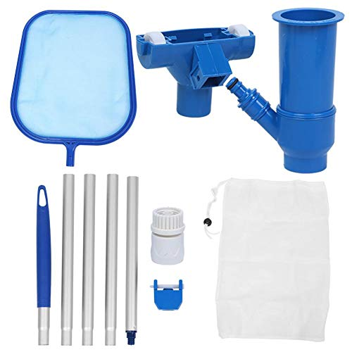 Fdit Swimming Pool Leaf Mesh Net Set Pools Leaf Skimmer Cleaning Tools Leaf Skim Net Swimming Pool Cleaner Supplies for Pond Fountain