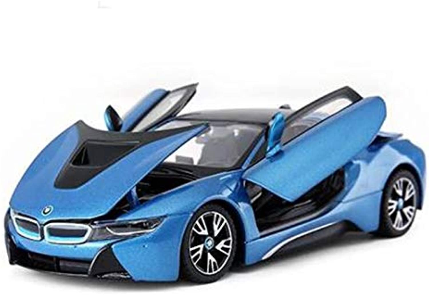 HBWJSH Alloy Car Static Model 1 24 Simulation Sports Car Car Collection Decoration Toy (color   bluee)