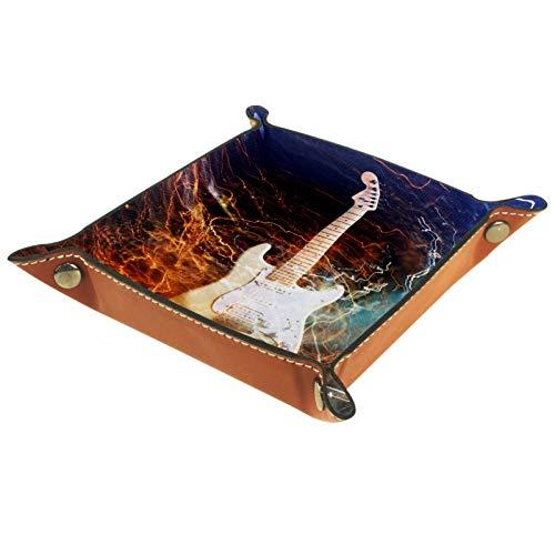 YATELI Caja de Almacenamiento pequeña, Bandeja de Valet para Hombre,Guitarra electrica,Organizador de...