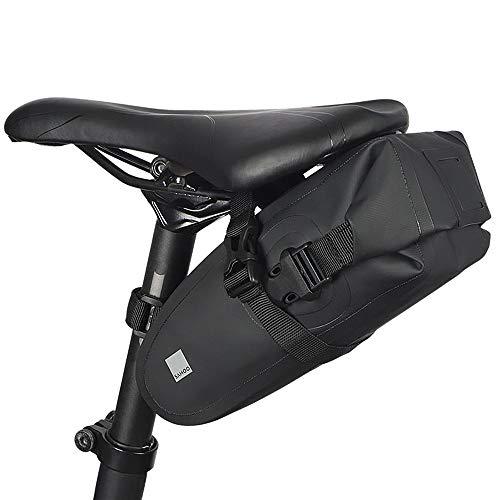 Lixada Bolsa para sillín de Bicicleta, Impermeable, Ligera, Bolsa de Almacenamiento para Bicicleta MBT o Asiento de Bicicleta de Carretera