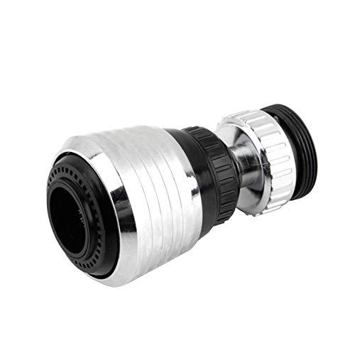 Aireadores de Grifo Cocina Rociador del Grifo Boquilla del Filtro de Agua Aerador del Fregadero de la Burbuja Girar 360 Grados Dispositivo de Ahorra Agua Grifo Aireador Filtro (Plata)