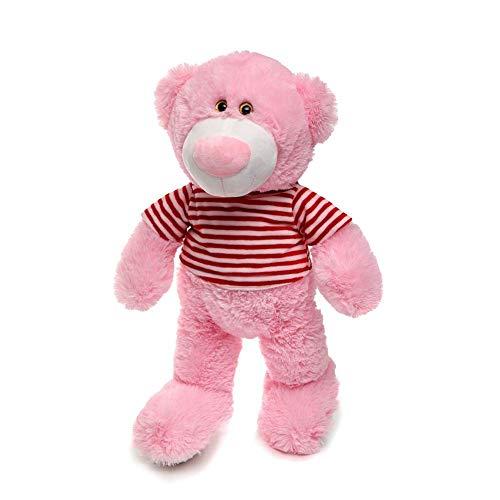 TINGTING Kuschel-Teddybär 60Cm Plüschbär Trägt EIN T-Shirt Teddy Kuscheltier Stofftier PP-Baumwollpolsterung,Rosa