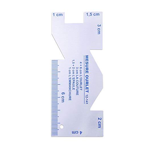 heacker Fai da Te Cucito a Mosaico Righello Aluum Lega Cucire Maglieria Quilting Sartoria Strumento di misurazione Calibro