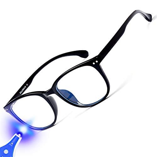 ZILLERATE Gafas Luz Azul Mujer, Gafas Ordenador, Gafas Filtro Azul, Gafas Para Ordenador, Blue Light Glasses, Gafas Gaming, Gafas Anti Luz Azul, Gafas Luz Azul Hombre, Proteccion Pantallas Block