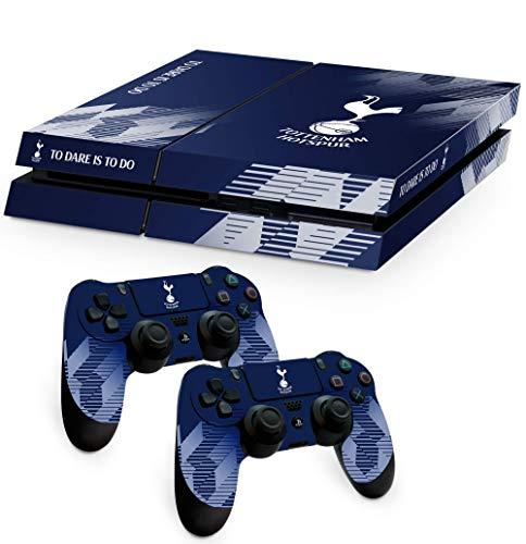 Offizielle Tottenham Hotspur FC Merchandise-Schutzfolie für PS4 Konsole und Controller, Vinyl, wasserabweisend, kratzfest, Blau und Weiß