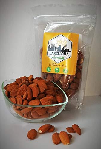 Barcelona Almonds- Almendras al natural, crudas y con piel. 7x200g