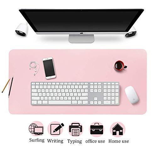 Esterilla Ordenador Alfombrilla Escritorio Estera de Oficina, Protector de Escritorio Pad & Mouse Pad ultrasuave Bloc 80 x 40 cm Rosa