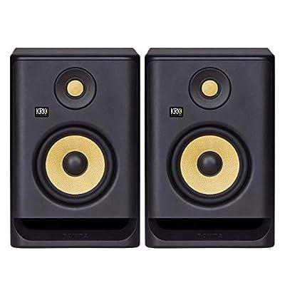 """KRK RP5 Rokit 5 G4 Professional Bi-Amp 5"""" Powered Studio Monitor Pair, Black by KRK"""