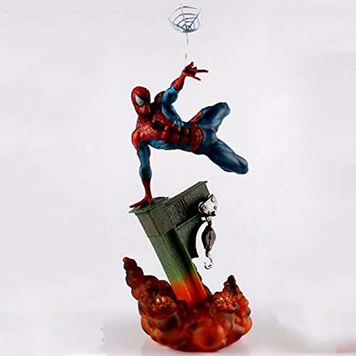 Lianlili Amazing Spider-Man Cartoon Model, Model Statue, Desk Decoration, 28cm (Color : Red)