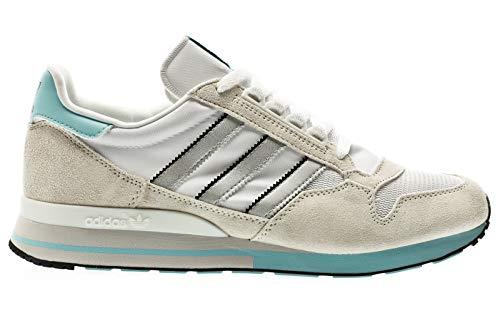 adidas Originals ZX 500, Off White-Silver Metallic-Footwear White, 10,5