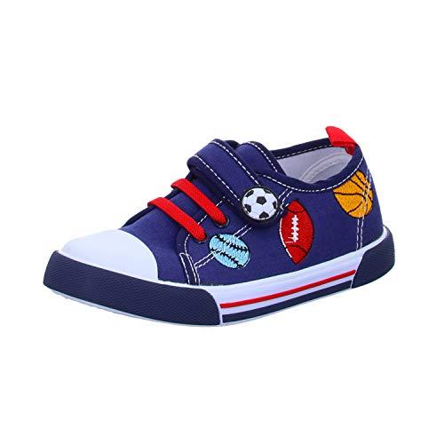 Sneakers T9039 Jungen Leinen Slipper/Kletthalbschuh, Größe 24
