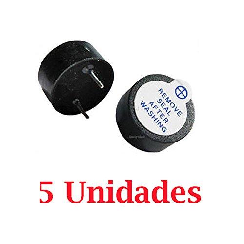 5x Zumbador 5V Buzzer Activo 12mm Magnético Continuo