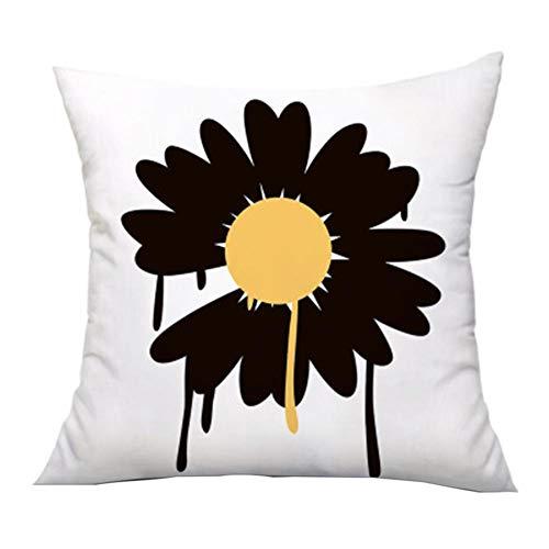 Calculatrice|Frischer Gänseblümchenblume Plüsch Büro Mittagspause Kissenbezug, Größe: 45 * 84CM, Material: Plüsch