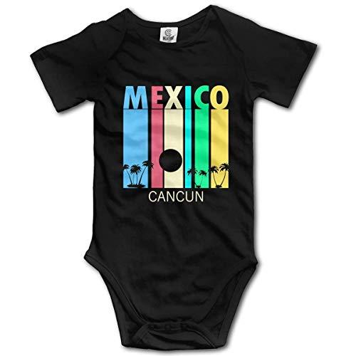 IUBBKI Retro Cancún México Novedad Body Baby Romper Jumpsuit Pijamas de Manga Corta