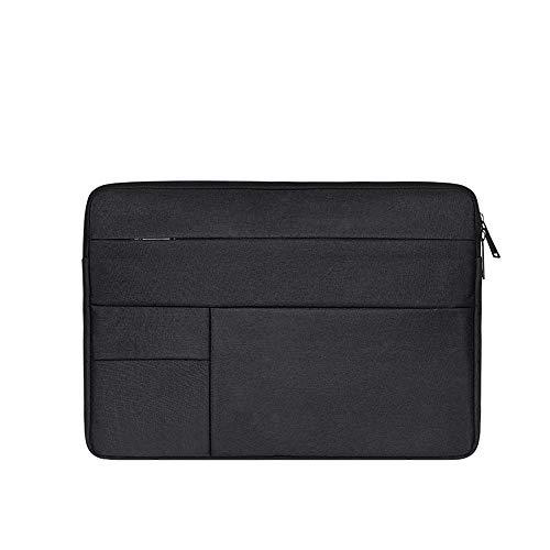 Baomasir Sleeve Case Oxford-Stoff wasserabweisend Laptop Hülle kompatibel 13-13,3 Zoll MacBook Pro/Air, Multi-Objekt-Tasche, große Kapazität, Schwarz