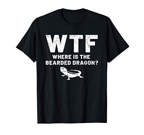 Dragones barbudos WTF Funny Vintage Retro Pet Lizard Camiseta