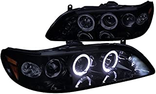 Spec-D Tuning 2LHP-ACD98G-TM Honda Accord Dual Halo Led Glossy Black Projector Headlights
