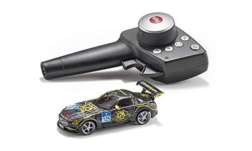 SIKU 6823, Mercedes-Benz SLS AMG GT3, Voiture Télécommandée, 1:43, Noir, métal/plastique, avec module de télécommande et batterie