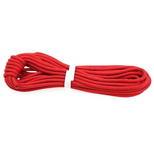 MagiDeal Professionnel Escalade Corde de Sécurité de Survie Corde Auxiliaire Randonnée - Rouge, 10m