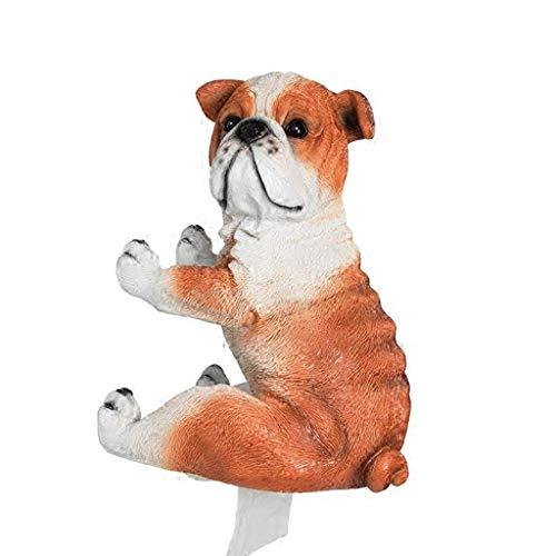 TIANYOU Forma de perro Tissue Box Cover Holder Toalla de papel Colgante de pared para baño, Soporte de papel de cocina a prueba de agua/naranja / 23.5cm×20cm×21cm