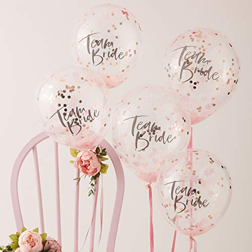 Ginger Ray Gefüllte dekorative Luftballons für Junggesellinnenabschied, 5 Stück, mehrfarbig
