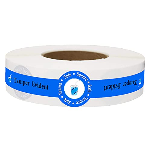 Safe Secure Tamper Evident Seals Stickers for Drink Lids,1″ x 9″Food Delivery Stickers - Sealed for Freshness Labels Drink Food Seal Stickers (500 Total Labels)