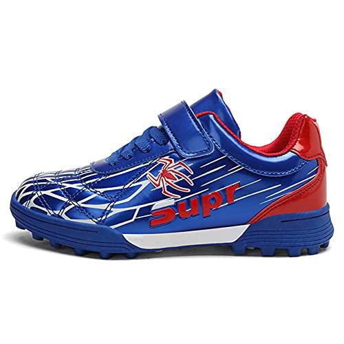 YICHUAN Zapatillas De Entrenamiento Atletismo Fútbol para Niños Spiderman Correr Interiores Y Exteriores,Blue-34EU