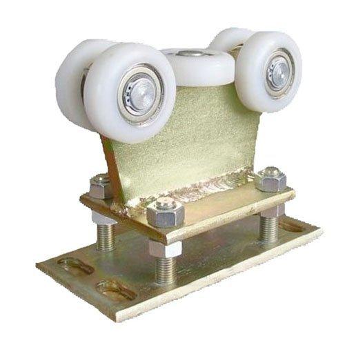 Preisvergleich Produktbild Zabi Schiebetore Rollenwagen mit 5 Polyamid Rollen,  nicht kippbar,  mit Höhenverstellung für profile 80x80 dicke 5mm