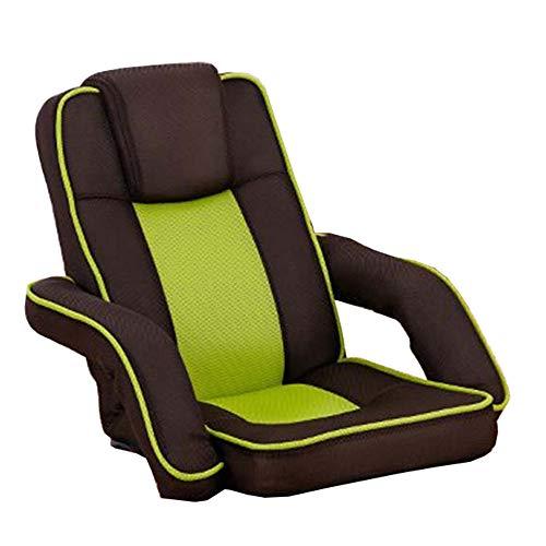 LJFYXZ Canapé Paresseux Chaise Chaise Pliante Ordinateur Réglage à 14 Vitesses Accoudoir de Liaison Mesh Respirant Chambre Petit canapé (Couleur : Green)